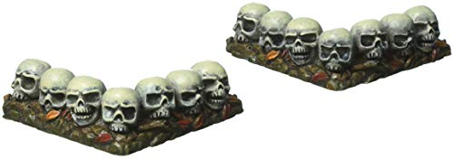 Department 56 Halloween Collections Curved Row of Skulls Figurine Village Accessory, Multicolor ()