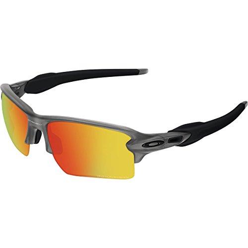 Oakley Men's Flak 2.0 XL OO9188-10 Rectangular Sunglasses, Matte Grey Smoke, 59 - Sunglasses For Best Oakley Golf