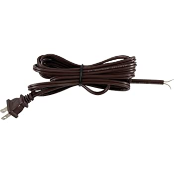 GE Lamp Cord Set with Molded Plug, 8-Foot, Brown 54435