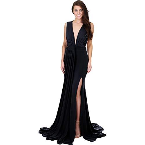(Jovani 61045A Prom Open Back Evening Dress Black 2)