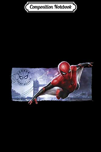 Composition Notebook: Marvel Spider-Man Far From Home London Flight Postcard  Journal/Notebook Blank Lined Ruled 6x9 100 Pages (Spider Postcard)