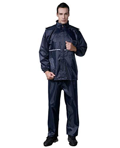 De Vestir Marine Lluvia Blau Unisex Exteriores Transpirable Traje Ropa Adulto Impermeable Motocicleta Unids 2 Prendas 6OwPxzq8w