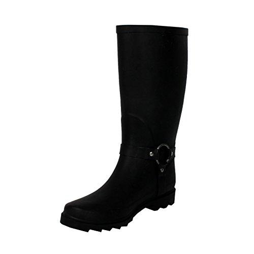 zipper rain boots - 7