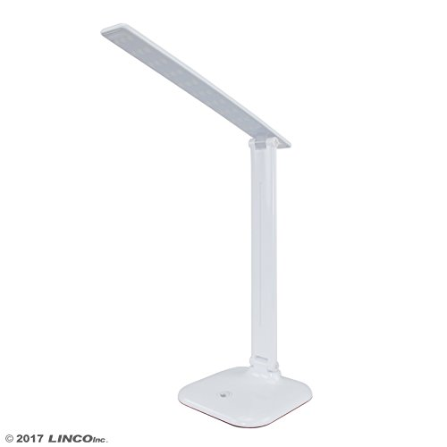 LINCO Touch LED Desk Lamp with 3 Brightness Level, White T004