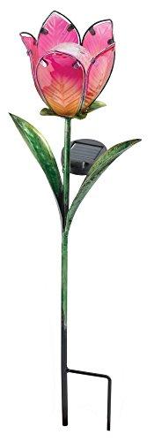 (Regal Art &Gift Solar Tulip Stake, Pink/Yellow)