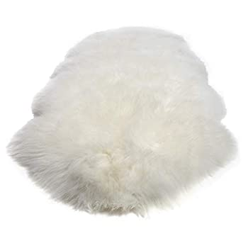 Image of Double Pelt, New Zealand Premium Sheepskin, Ivory Rug, Thick Soft Luxurious Natural Wool, by Minidoka Sheepskin