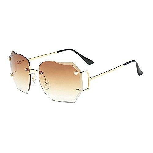 Hot Designer Sunglasses - MINCL/2016 HOT RIMLESS SUNGLASSES WOMAN CLEAR LENS (gold, yellow)