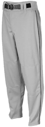 Rawlings Youth Relaxed Fit YBP350MRP Piped Baseball Pant, Blue Grey with Black Piping, Youth Small ()