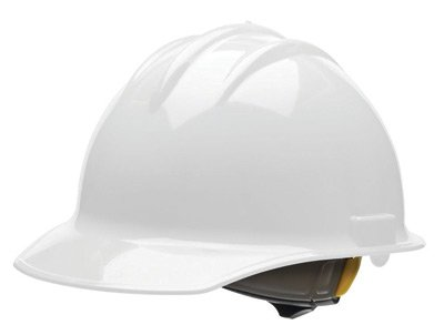 Bullard® White Class E or G Type I Classic C30 3000 Series HDPE Cap Style Hard Hat With 6-Point Ratchet Suspension, Accessory Slots, Chin Strap Attachment And Absorbent Cotton Brow ()