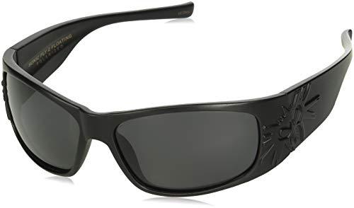 Black Flys Sonic 2 Floating Polarized Shield Sunglasses, Matte Black, 65 mm