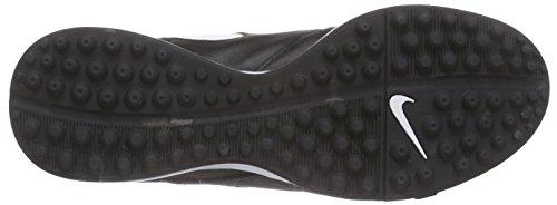 Nike Tiempo Genio II Leather TF Botas de fútbol, Hombre Negro (Black/White-Metallic GoldBlack/White-Metallic Gold)