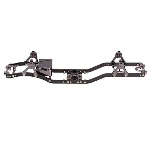 Crawler Chassis - Flameer CNC Aluminum Alloy + Carbon Fiber Crawler Frame Chassis for 1/10 SCX10 D90