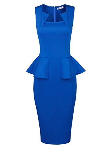 TAM-WARE-Womens-Classy-Neck-Detail-Sleeveless-Zip-up-Midi-Dress