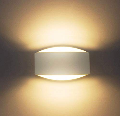 Sobrovo LED Wall Lamps up and Down Indoor Wall Light Uplighter Downlighter Gypsum Plaster Sconce Lights with 7W G9 LED Bulb Warm White by Sobrovo