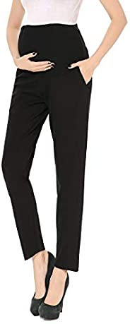 Maternity Pants Bootcut Stretch Over-Bump Women Pregnancy Casual Capris for Work