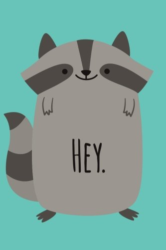 Hey (6x9 Journal): Cute Raccoon Blue, Lightly Lined, 120 Pages, Perfect for Notes, Journaling, Mother's Day and Christmas
