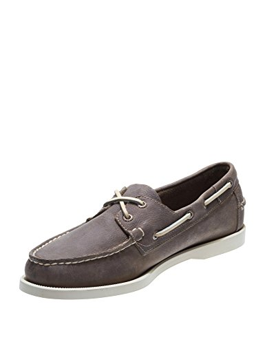 Men's Sebago Docksides Dark Beige Leather Shoes g66Uwqr