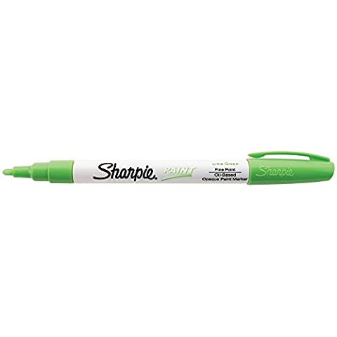 Sharpie Oil-Based Paint Marker, Fine Point, Lime Green Ink, Pack of 3 - Sharpie Permanent Oil Based Paint