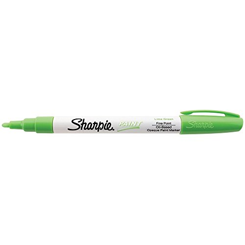 Sharpie Oil-Based Paint Marker, Fine Point, Lime Green Ink, Pack of 3