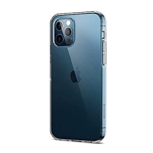 Amazon Brand – Solimo Mobile Cover (Soft & Flexible Back case) Transparent for Apple iPhone 12 Pro