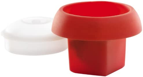 Lékué Ovo cúbico Rojo Cocedor de Huevos, Silicona, 1 Unidad: Amazon.es