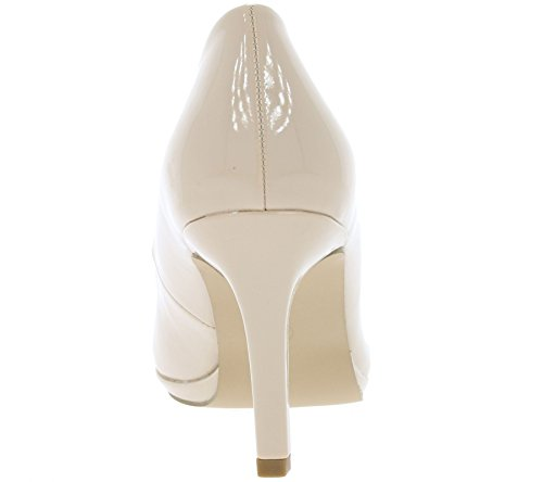 Arizona Pumps Lackpumps High Heels beige / schwarz Beige