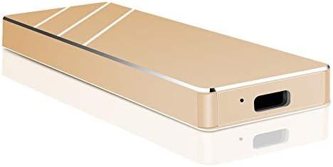 Portable External Hard Drive Ultra Slim Portable Hard Drive External HDD Compatible with Mac, Laptop, PC (Gold,2TB)