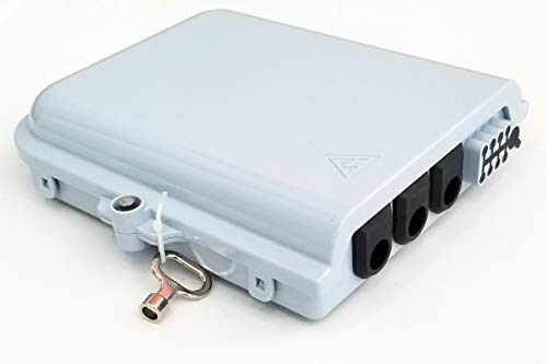 Bud Industries FBR-11608 12 Core Fiber Optic Distribution Box