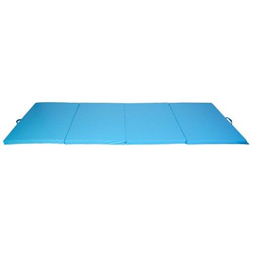 Gymnastics Gym Folding Exercise Aerobics Mats Blue Stretching Yoga Mat (4'x8'x2'') by Exercise Mats