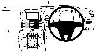 Brodit 654861 ProClip Center Mount for Volvo V40 13-14