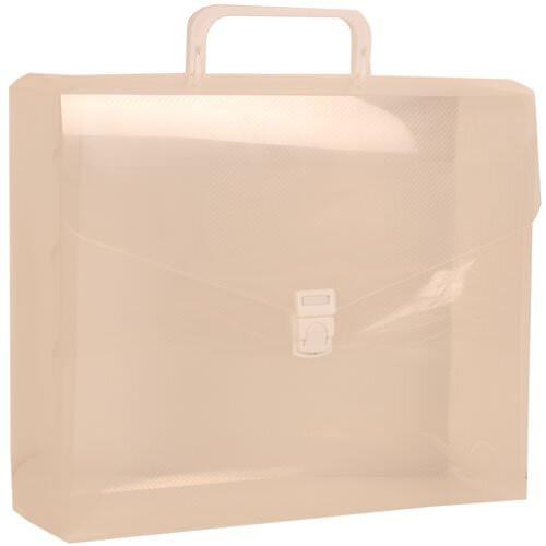 JAM Paper® Plastic Portfolio File Carry Case with Handles - 10