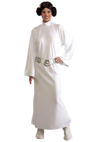 Disney Star Wars Deluxe Princess Leia Adult Costume Standard One-Size (Princess Leia Disney Princess)