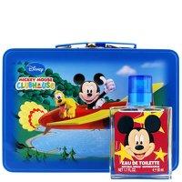 Disney Mickey Mouse Gift Set 1.7oz (50ml) EDT Spray + Luggage Tag + Travel Case ()