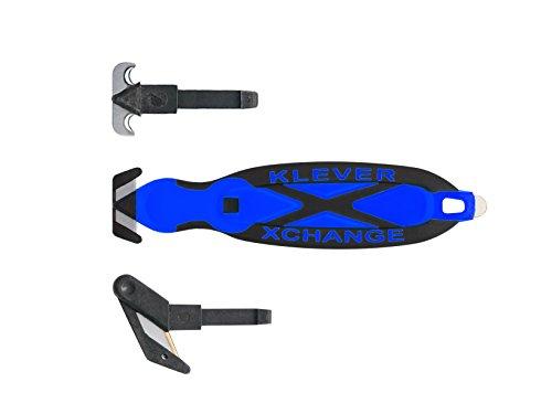Box Cutter, Klever X Change Kombo Pack - All 3 Interchangable Heads (Blue)