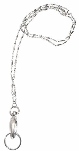Stainless Steel Chain Lanyard and badge holder 34 inches, Magnetic Breakaway clasp or Non Breakaway options available (Stainless Steel -Breakaway - Lanyard With Clasp Breakaway