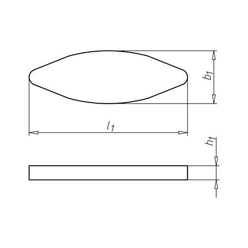 10 Lamelle n 20 legno 60 mm Lamine Spine Piatte per Lamello Piastrine Biscotti