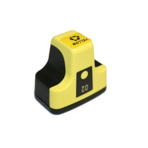 HI-VISION HI-YIELDS Compatible Ink Cartridge Replacement for HP HP 02 ( Yellow , 1-Pack )
