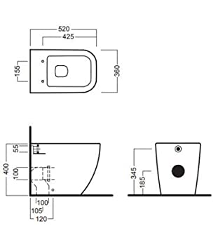 Hatria Y1VA01 Jarr/ón de hilo de pared para desag/üe universal serie blanca