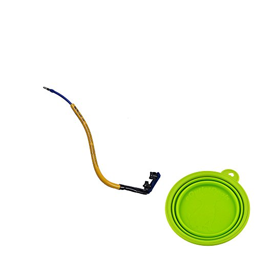 Best Bike Dog Leash - Bike Tow Leash - Stable and Safe - Medium to Large Dogs Bundled with eOutletDeals Collapsible Pet Water / Food Travel Bowl (Yellow) by Bike Tow Leash