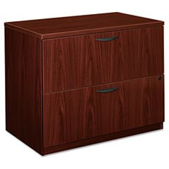 * BL Laminate Two-Drawer Lateral File, 35-1/2w x 22d x 29h, Mahogany by MotivationUSA