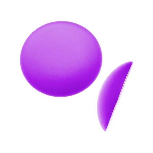 Beadsmith Lunasoft Glowing Lucite Cabochon 18mm Round - Matte Grape Purple (1)
