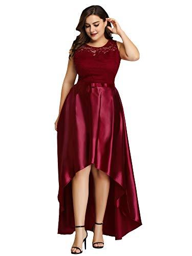Women's A-Line Sweetheart Neckline Evening Party Maxi Dress Plus Size Burgundy US22