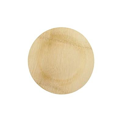 BambooMN Brand - Round Disposable Bamboo Veneer Plates - Varies Sizes