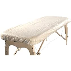"""Therapist's Choice® """"Waterproof"""" Fitted Disposable Massage Table Sheet, 10pcs per package"""