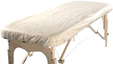 Therapist's Choice® 'Waterproof' Fitted Disposable Massage Table Sheet, 10pcs per package