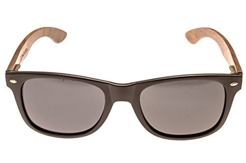 Walnut Wood Sunglasses For Men & Women with Polarized Lenses with Wood Box GOWOOD 2 WHILE OTHER WOOD SUNGLASSES brands can sometimes look and feel cheap, have stiff plastic hinges, pinch behind the ears or simply break after only a few uses, GoWood wood sunglasses are designed to eliminate these problems. The wood temples fold perfectly over each other both ways, the ear pieces do not pinch and the hinges are made of metal and are outward flexible. This means these polarized sunglasses for men and women feel solid, last longer and are more comfortable. FULL PROTECTION AGAINST THE SUN - No more squinting your eyes, because GoWood sunglasses for men and women are equipped with polarized thermal cured lenses, which provide a clear vision and protect against glare and UV radiation. They further have an anti-reflective coating and are designed to withstand accidental impacts. HOP ON THE TREND - Look at your best with these beautiful womens and mens wood sunglasses. Wooden sunglasses have been hot for some time now, but the darker natural walnut wood is by far the most popular style at the moment. Each pair has its own unique wood grain and everybody just loves the darker natural wood.