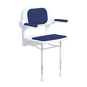 Image of ARC ES2230-BU Economy Standard Seat with Back and Arms, Blue