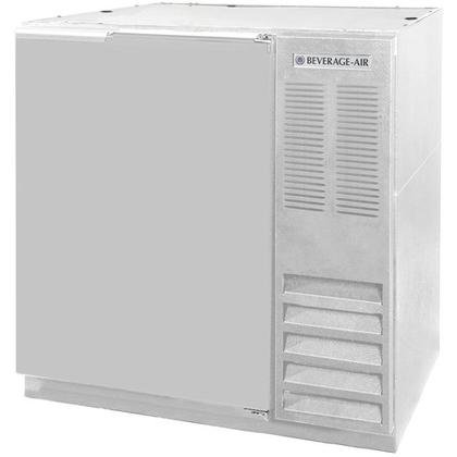 Beverage-Air BB36-1-S-27 36'' One Solid Door Back Bar Refrigerator 8.8 cu. ft. Capacity with Stainless Steel Exterior Finish Side Mounted Compressor and 2'' Stainless Steel by Beverage Air
