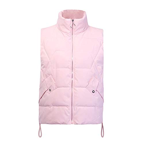 Gergeos Women Packable Lightweight Down Vest Fashion Outdoor Puffer Vest Winter Sleeveless Outwear Sport Coat(Pink,M) by Gergeos