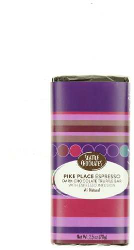 Seattle Chocolates, Pike Place Espresso Chocolate Bar, 2.5 oz